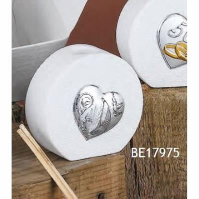 Diffusore con Cuore argento mitra Cresima Olivia