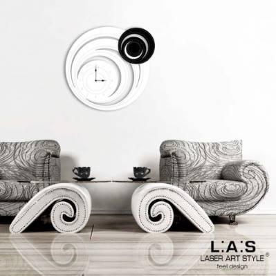 Orologio a cerchi da muro astratto - Laser Art Style