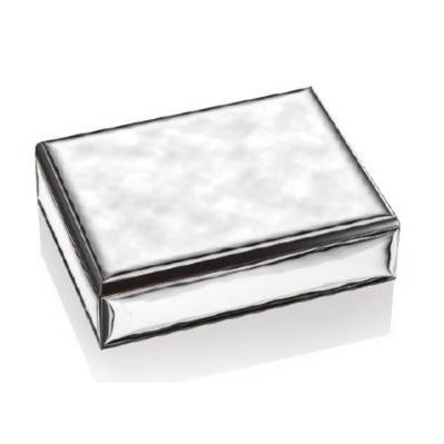 Scatola linea Caban con placca in metallo argentato - Atelier