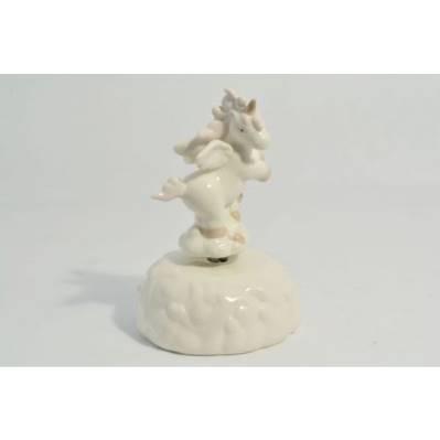 Carillon Unicorno Rosa in porcellana
