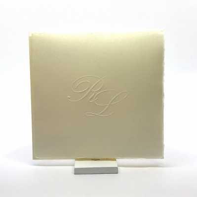 Partecipazione Matrimonio su carta amalfitana quadrata