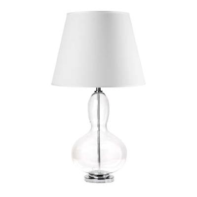 Lampada in vetro con paralume bianco - L'OCA NERA