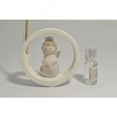 Angelo rosa in ceramica con profumatore Collezione 2020