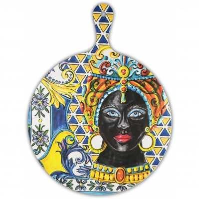 Tagliere grande da collezione sicilia blu Baroque&Rock - Baci Milano