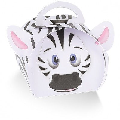 Scatola portaconfetti zebra