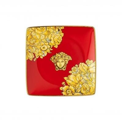 Versace Medusa Rhapsody Red Coppetta quadra piana 12cm