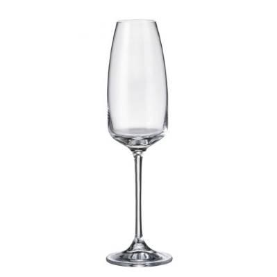 Set 6 bicchieri flute Anser in cristallo Bohemia
