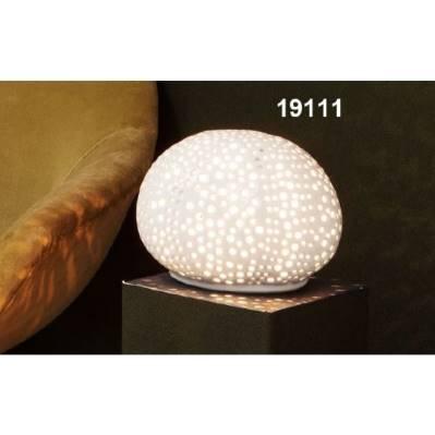Lampada sfera trama traforo in porcellana