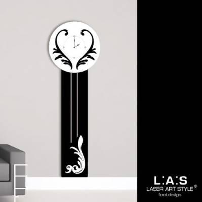 Orologio da muro - da terra con decori stilizzati - Laser Art Style