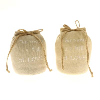 Fermaporta in stoffa con scritte