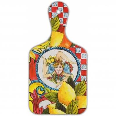 Tagliere piccolo da collezione sicilia rossa Baroque&Rock - Baci Milano