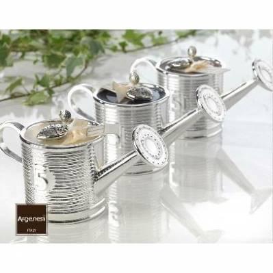 Bomboniera porta candela ANNAFFIATOIO in resina e argento - Argenesi
