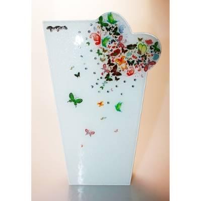 Vaso in vetro butterfly - 30cm - Gai Mattiolo