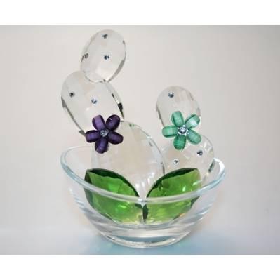 Bomboniera - Vasetto decorato con cactus e fiori - Debora Carlucci