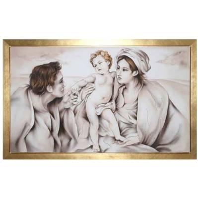 Capezzale - Aerografo Sacra famiglia