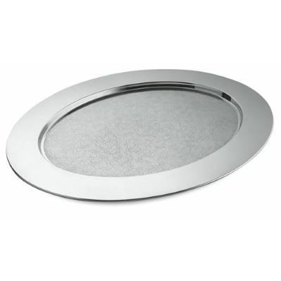 Vassoio ovale cesellato in acciaio inox cm.58x45 Alessi