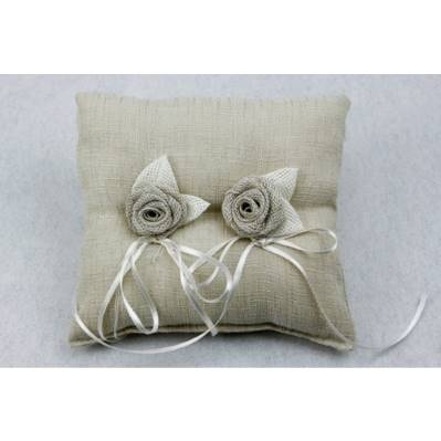 Cuscino portafedi in lino - due colori