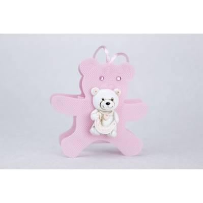 Sacchetto rosa a forma di orsetto