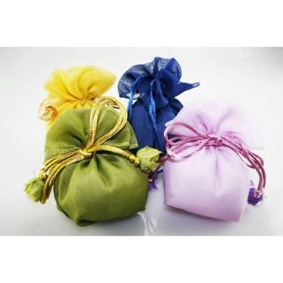 Sacchetto con fiocco fiori per Compleanni/comunioni