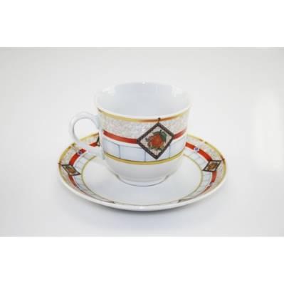 Tazza da tè con decori