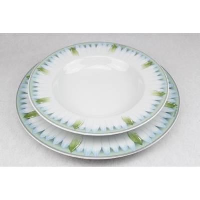 Servizio di piatti con foglie - 20pz
