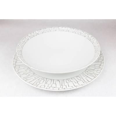 1 posto tavola Rosenthal skin platin - 3pz
