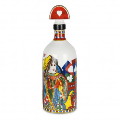 Bottiglia per olio in porcellana Regina di Cuori