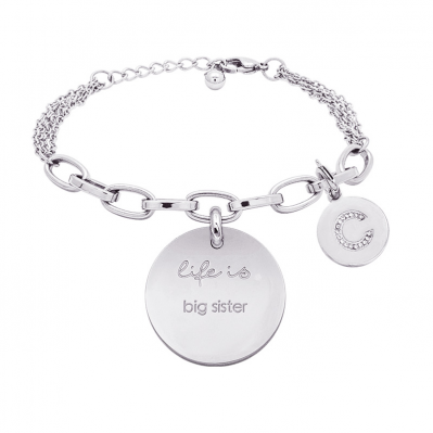 Bracciale Life Is Letters Big sister