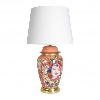 Lampada da tavolo in porcellana in stile contemporaneo Baroque&Rock-Milano
