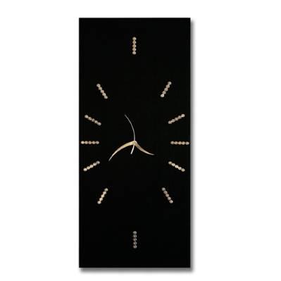 Orologio da parete in legno - nero