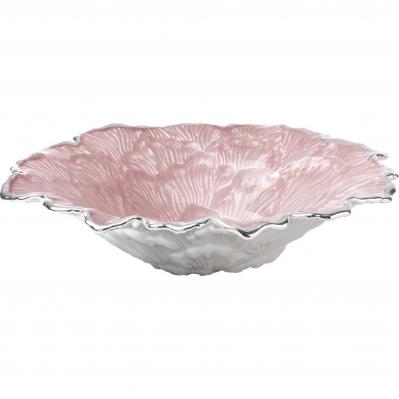 Centrotavola in vetro MAGNOLIA 22cm h.5cm - ROSA CIPRIA