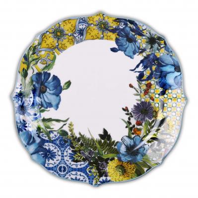 Servizio di piatti piani in porcellana set 6pz Baroque&Rock-Milano