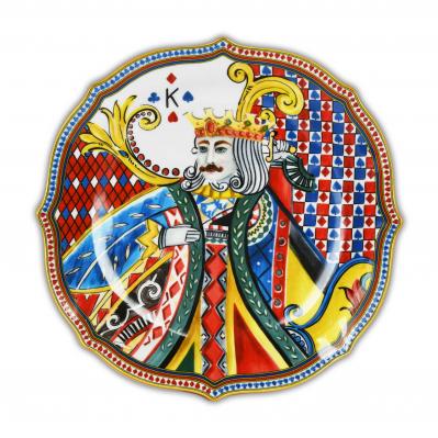 Set 6pz piatti piani in porcellana Regina di Cuori
