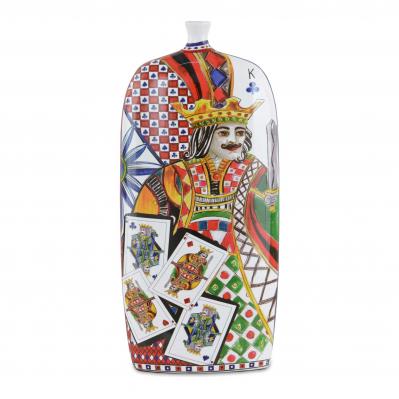 Vaso moderno in porcellana Regina di Cuori