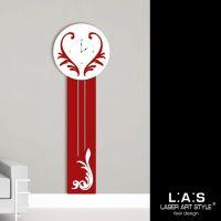 Orologio per parete modello da terra con decori stilizzati - Laser Art Style