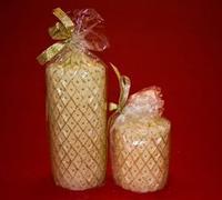 Candele con decorazioni natalizie - 2 misure