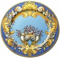 Piatto da parete cm.30 porcellane Rosenthal Versace