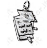 Ciondolo codice civile - Bomboniera laurea