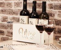 Box in legno per vino con led