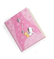 Album portafotografie con anatroccolo e margherite in rosa - 20x25 cm