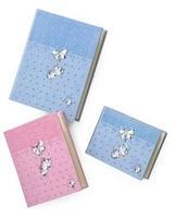 Album portafoto con fiocco e scarpine in rosa - 20x25 cm