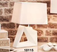 Lampada da tavolo geometrica bianca