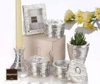 Bomboniera nozze scatola INFINITY in resina e argento con piantina - Argenesi
