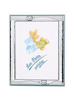 Cornice portafoto 13x18 con orsetto in azzurro