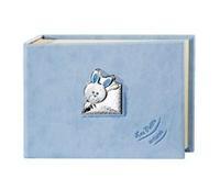 Album portafotografie con piccoli coniglietti in celeste - 15x20cm