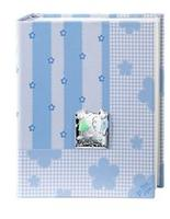 Album portafoto con bimbi stilizzati in azzurro - 20x25cm