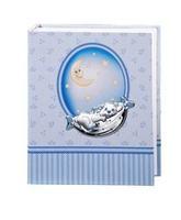 Album portafotografie con gatto e stelline in azzurro - 15x20cm