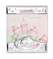 Portafoto a giorno 9x13 con anatroccolo che scrive in rosa
