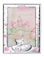 Cornice portafoto 13x18 con cagnolino che scrive in rosa