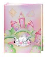 Album portafoto con anatroccolo che disegna in rosa - 20x25 cm